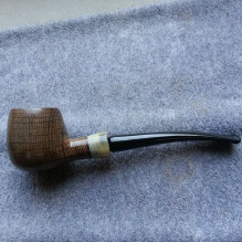 Billiard freehand bog oak 1/8 bent n. 96